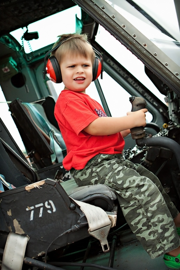 My Grandson Morgan, wants to fly helecopter like grandpa.