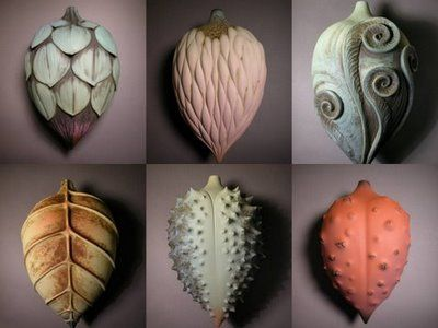 My high school ceramic teacher's work popped up on Pinterest! :) Alice Ballard pods.