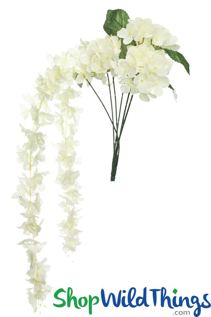 Silk flowers have come a long way in appearance, feel and price and our Ivory Hydrangea and Plumeria Bouquet Spray features not only a group of Hydrangea Blooms that can form a bouquet, but it also has