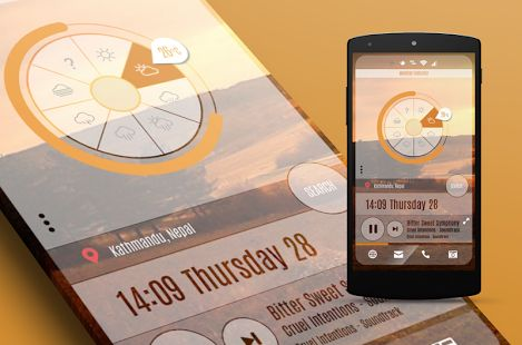 Weather and Battery widget for Zooper. Full editable shapes. ready to download.