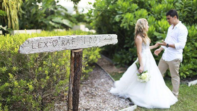 If you have a large venue, signal where the celebrations will take place with personal signs. Image: Roy Leigh