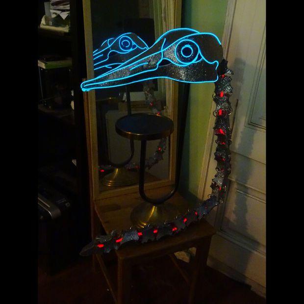 Picture of Ancient bird skeleton EL wire headdress