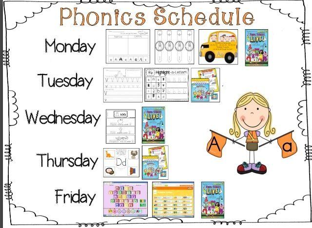 Kreative in Kinder: Self Portraits & Phonics Schedule