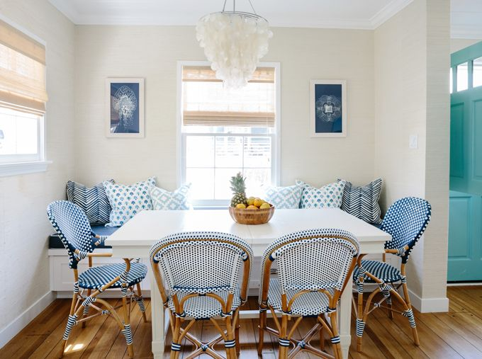 Coastal Inspired Breakfast Nook | Rita Chan Interiors