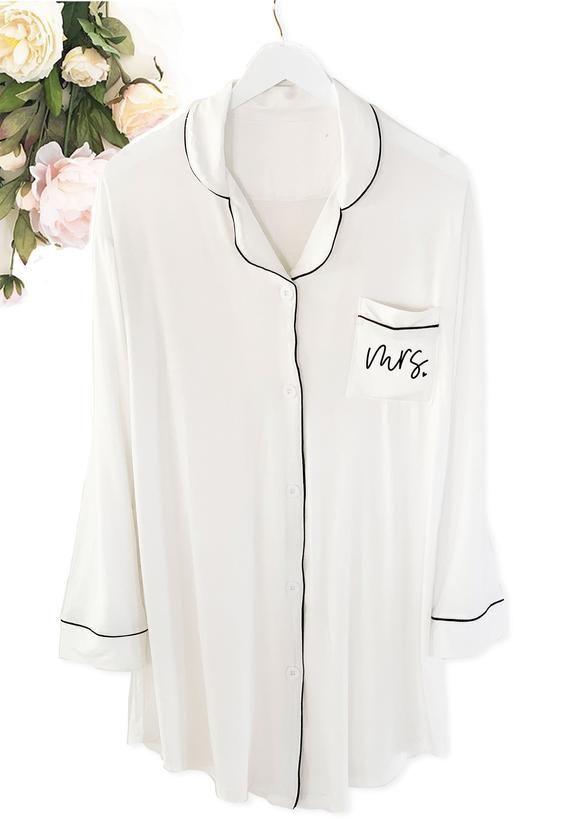 635a038795 Bride Pajamas Bride Sleep Shirt Bride Button Down Shirt Bridal ...
