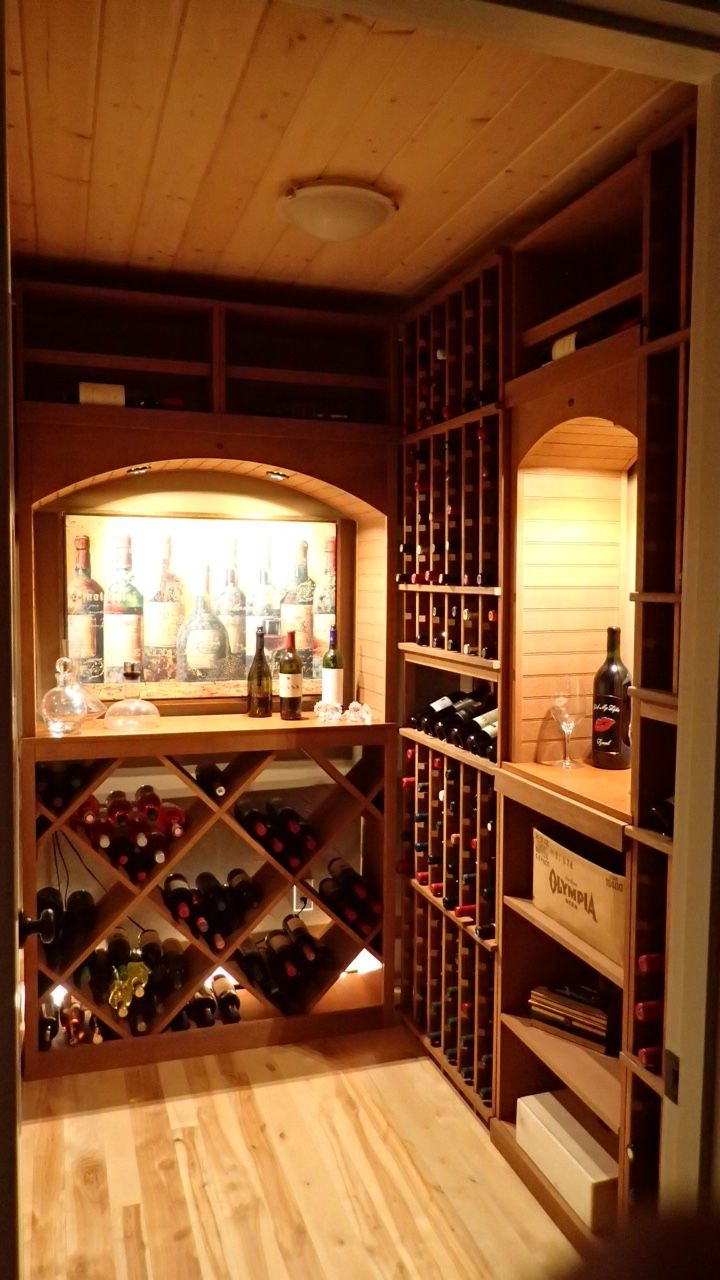Click The Pin To Learn More About This Small Rustic Wine Room