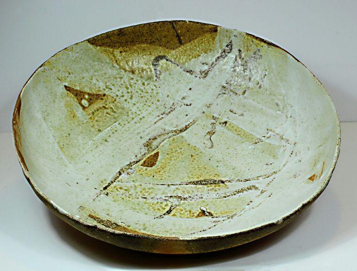 Pirjo Lautiainen, anagama fired platter, diameter 55 cm, 2016