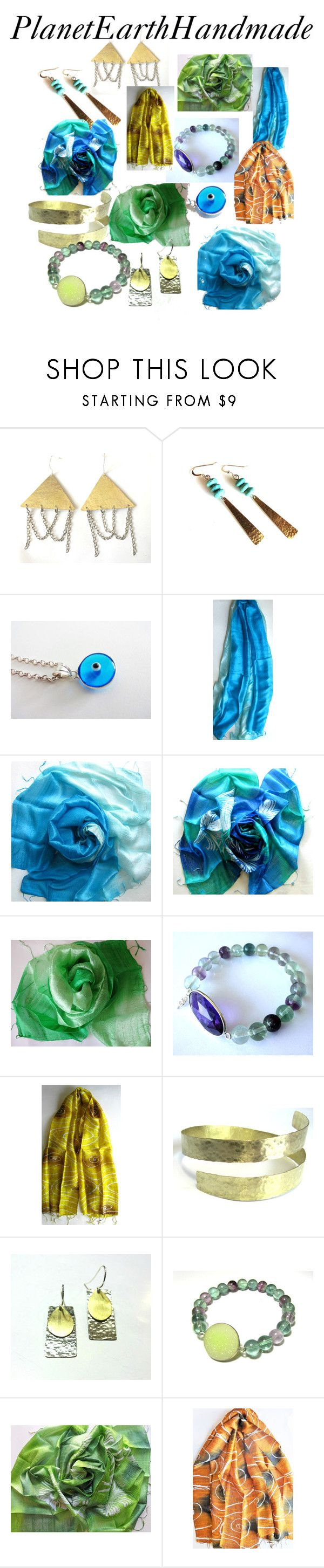 PlanetEarthHandmade by anna-recycle on Polyvore featuring MATÌ and silk