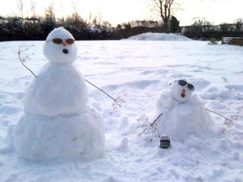 Tracklements snow friends #Tracklements #Snow #Wiltshire #Snowman