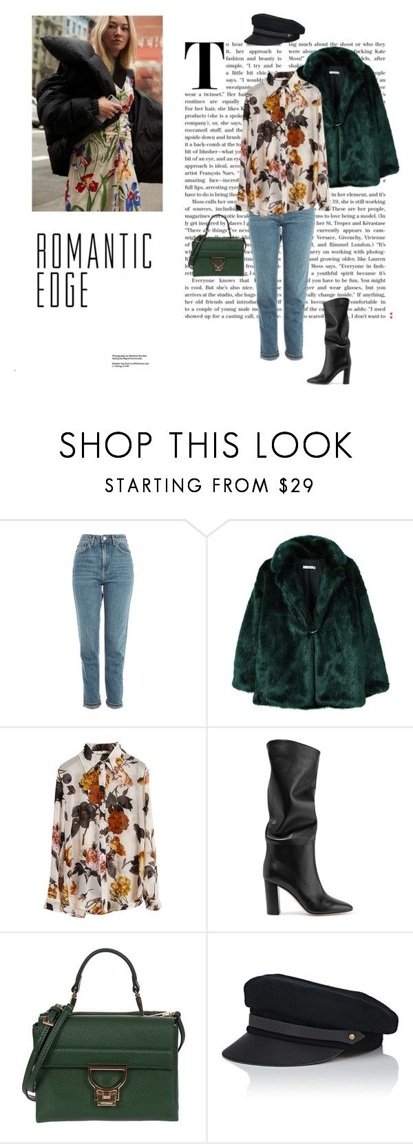 """17/02"" by dorey on Polyvore featuring Topshop, MANGO, Retrò, Gianvito Rossi, Coccinelle, Lola, StreetStyle, Flowers and pattern"