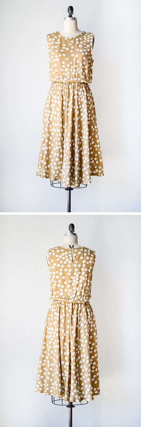 vintage 1980s dress | Dappled Sunspots Dress