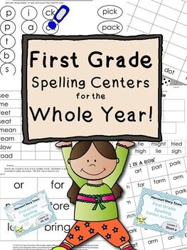 This is a huge resource of activities that any first grade teacher could use.  You get printable no-prep center activities for each of the 30 skills.