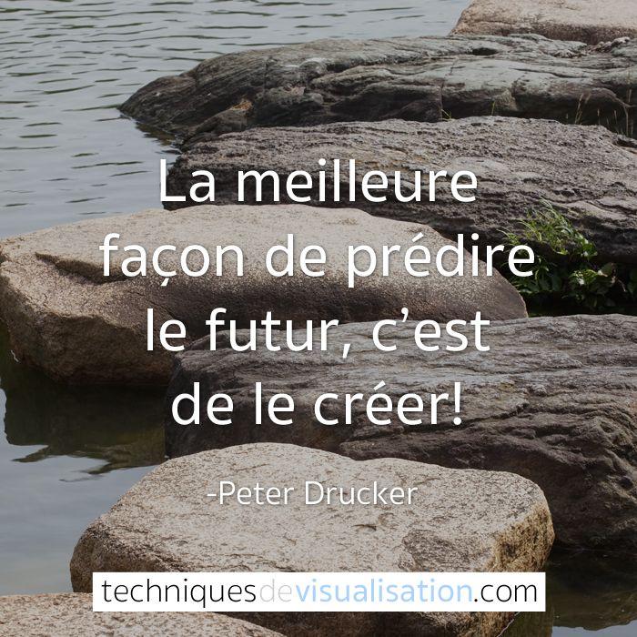 Techniques de Visualisation - Citation - Peter Drucker - La meilleure façon de prédire le futur, c'est de le créer!