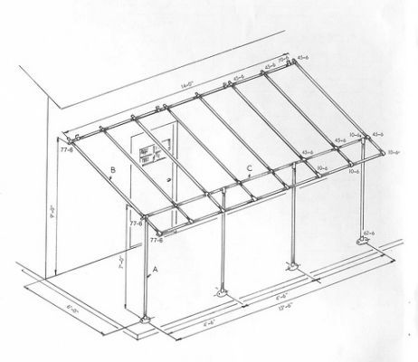 Awning frame made of pvc pipe