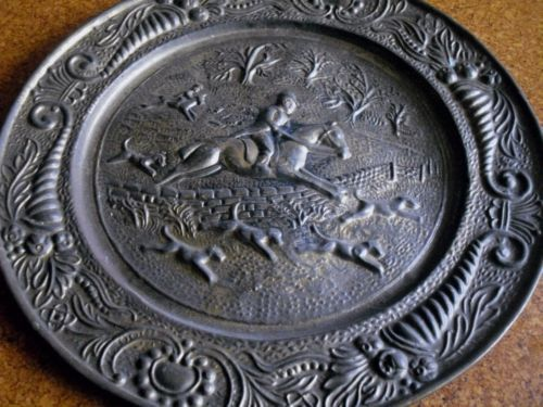 Vintage brass wall plaque. Sold