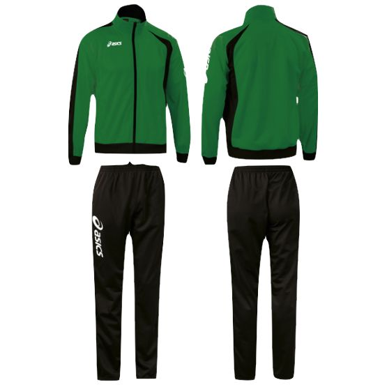 Melegítő Asics Suit Diff garnitúra zöld,fekete unisex