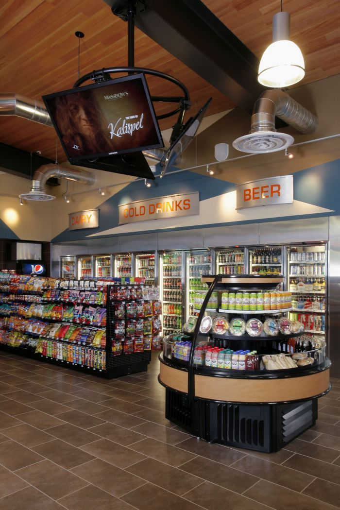 legacy landing convenience store interior interior design idea in spokane wa watford city pinterest store interiors convenience store and store
