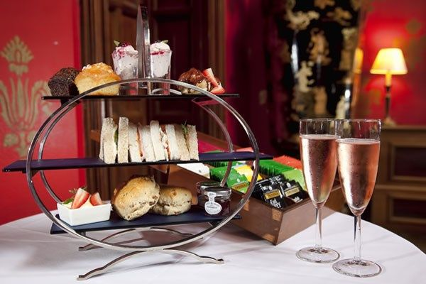Indulge in a delicious afternoon tea, complete with champagne, at Brownsover Hall Hotel