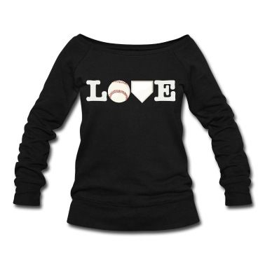 Love Baseball Sweatshirt | Spreadshirt | ID: 12252508