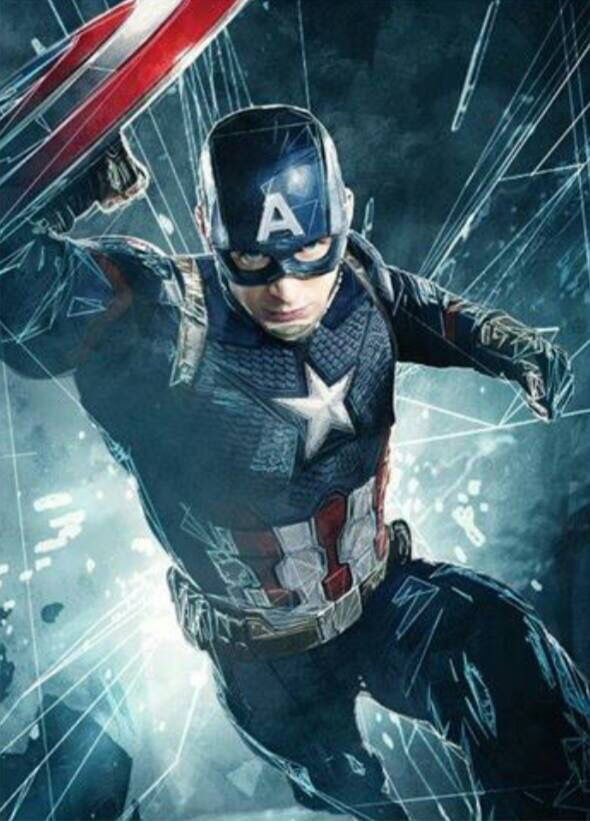 New Captain America: Civil War promotional art