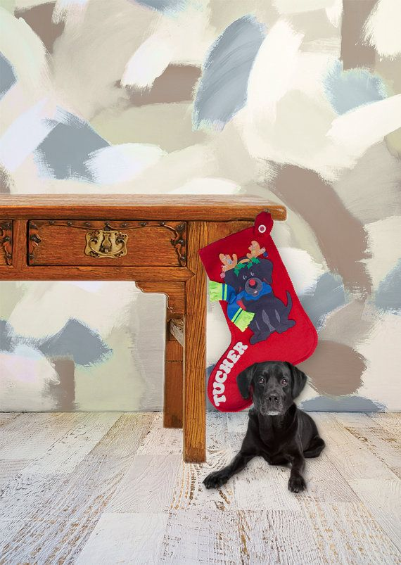 Dog Christmas Stockings Personalized by TheBusyElfWorkshop on Etsy