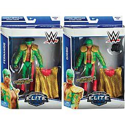 WWE PACKAGE DEAL Fernando & Diego (Los Matadores) - WWE Elite 35 Toy Wrestling Action Figures