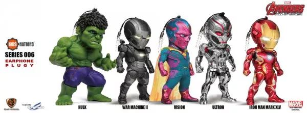 Avengers: Age of Ultron, Kids Nations EarPhone Plugy Series SF 006, Set of 5 (Hong Kong & Macau Only) - The Avengers - Shop By License