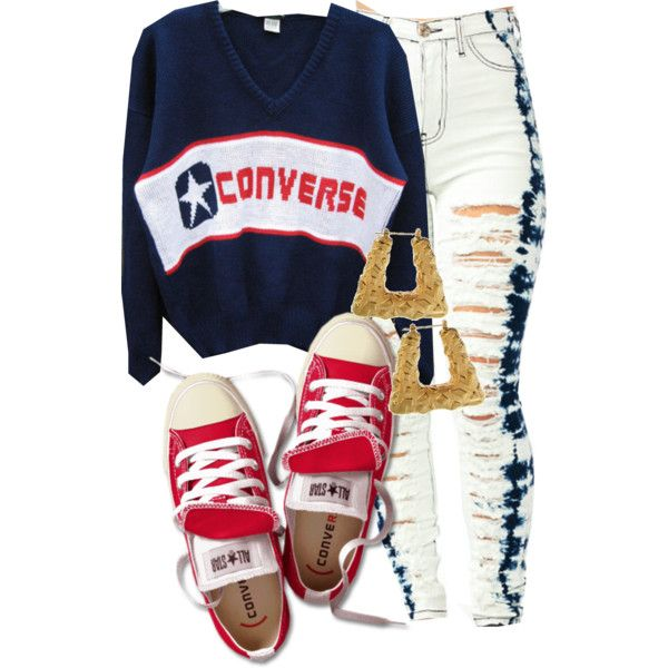 Converse, created by cheerstostyle on Polyvore