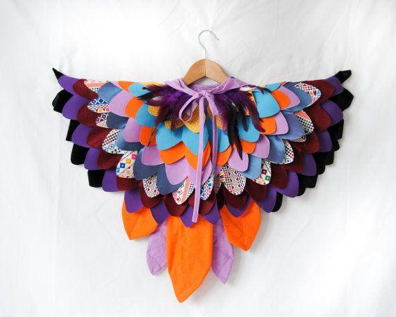 Kinder Papagei Kostüm Paradiesvogel Kunterbird von AtelierSpatz