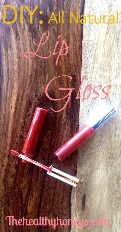 DIY: All Natural Lip Gloss (use plant wax) | The Healthy Honeys.