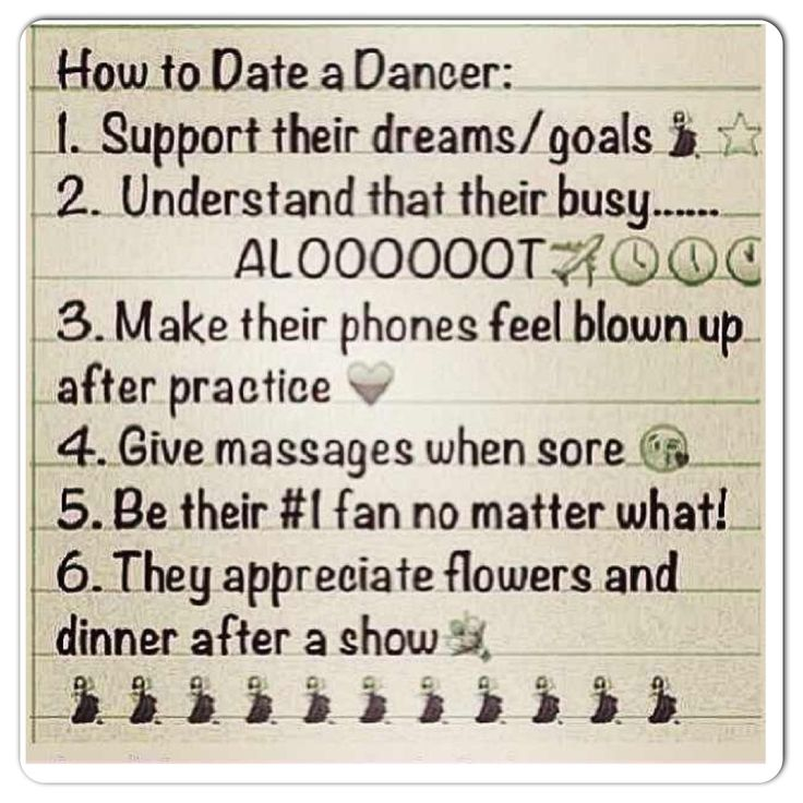 reasons for dating a dancer
