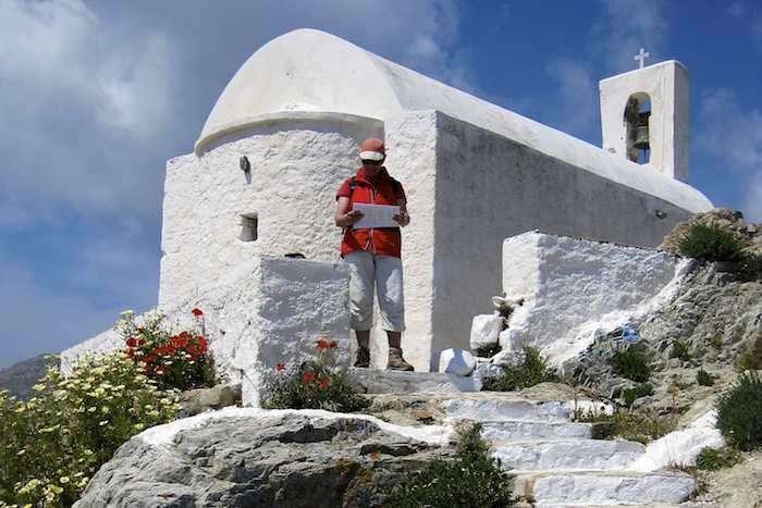 The walk continues after a rest at one of the chapels at Chora on Serifos