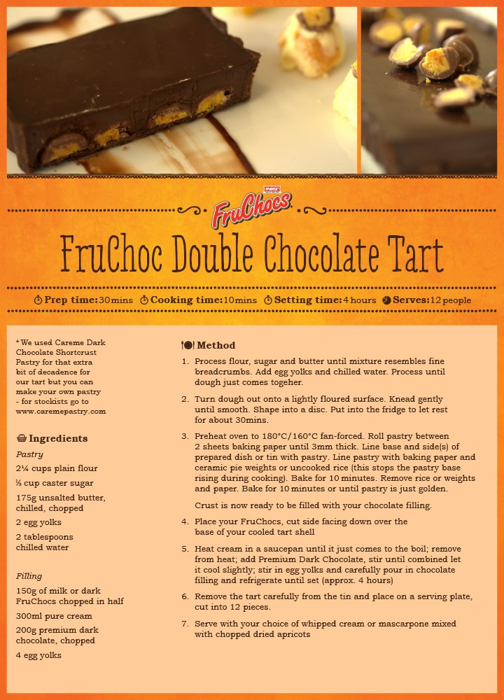 FruChoc Double Chocolate Tart