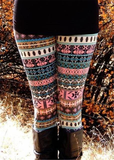 Women Autumn Winter Leggings Clothes Warm Slim Pants Exotic Casual Pants Christmas Snowflake Leggings