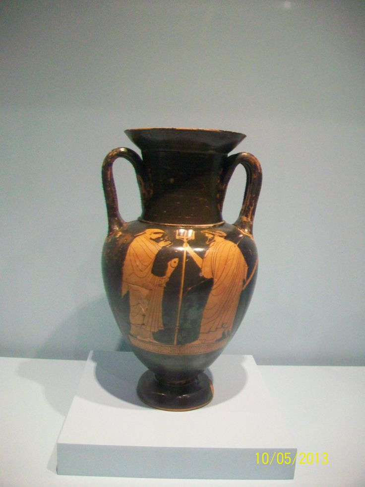Anfora de Nola que representa a Poseidon y su esposa Anfitrite