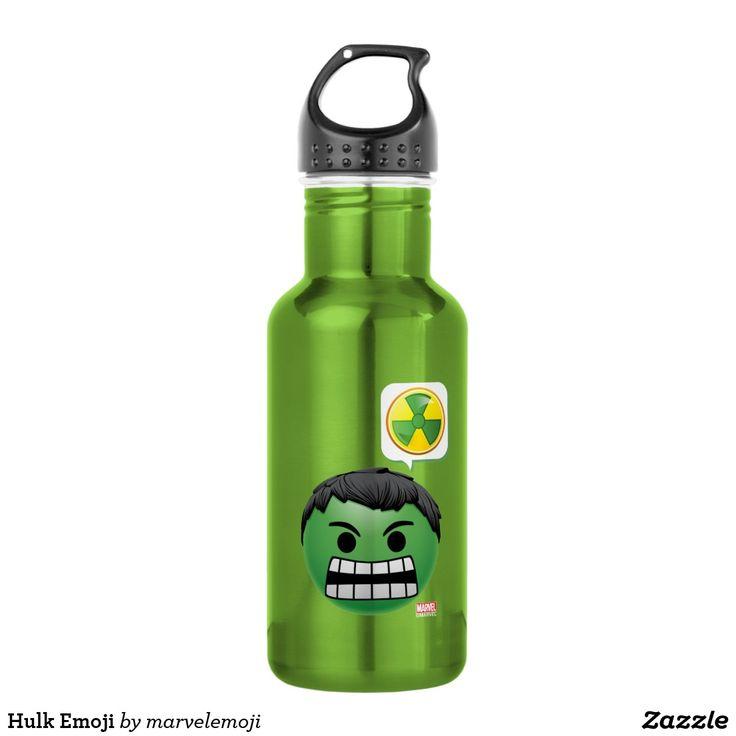 Hulk Emoji. Producto disponible en tienda Zazzle. Product available in Zazzle store. Regalos, Gifts. #bottle #botella