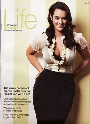 """""""Laura Wells plus size model""""    Yeah, right.  This is what I call a regular woman.  Well, not regular looking, but regular sized.  As far as looks go, she's hotter than average."""
