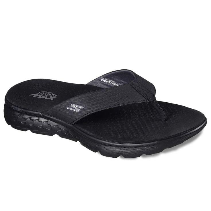 Skechers On the Go 400 Shore Men's Sandals, Size: 11, Dark Grey