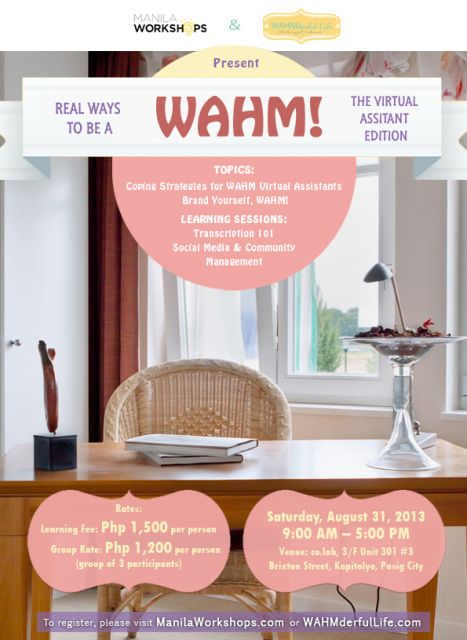 WAHM Workshop Virtual Assistant Edition Come Sign Up