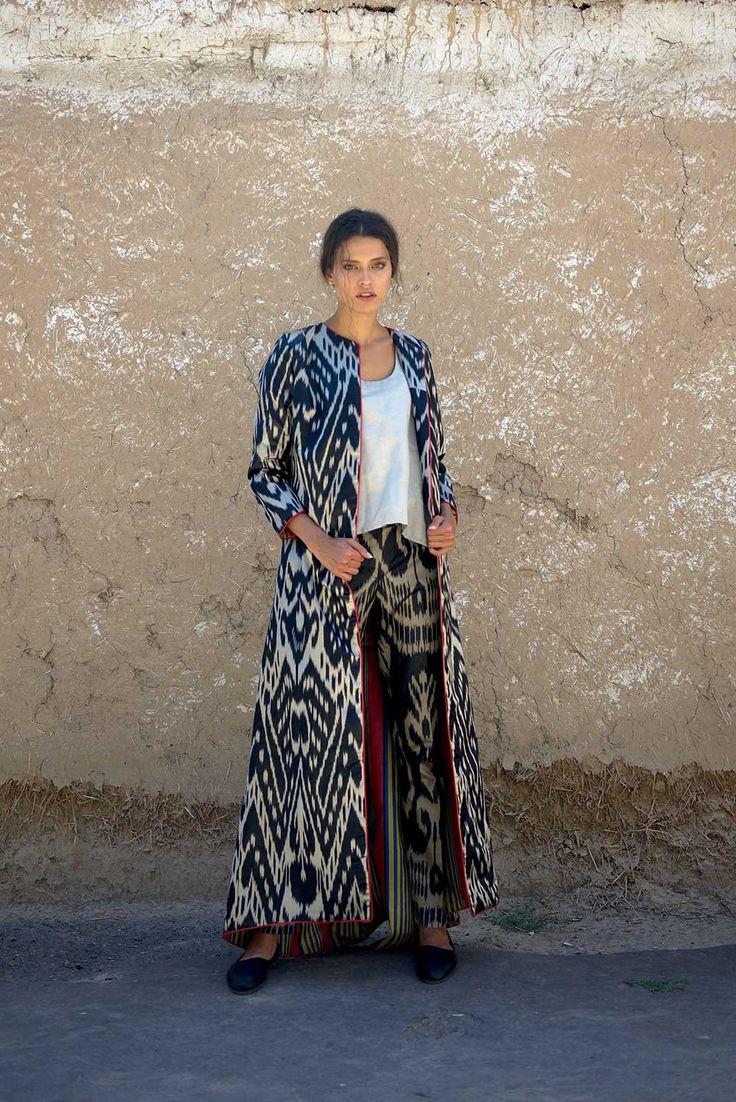 Amal Ikat Jacket ~ Bibi Hanum  ikat kaftans, contemporary designer clothes, handicrafts and souvenirs from Uzbekistan