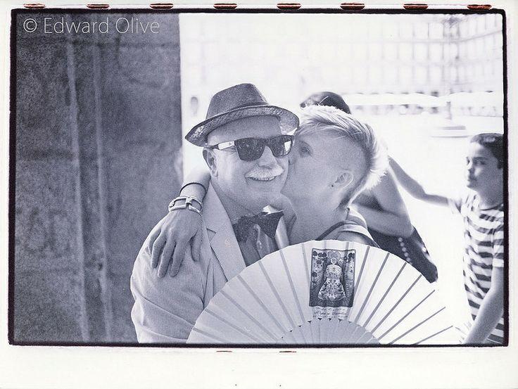 Happy when being kissed Copyright Edward Olive gay & lesbian wedding photos