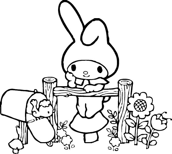 Hello Kit Coloring Page