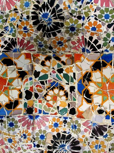 Detail from a Gaudi Mosaic, Barcelona