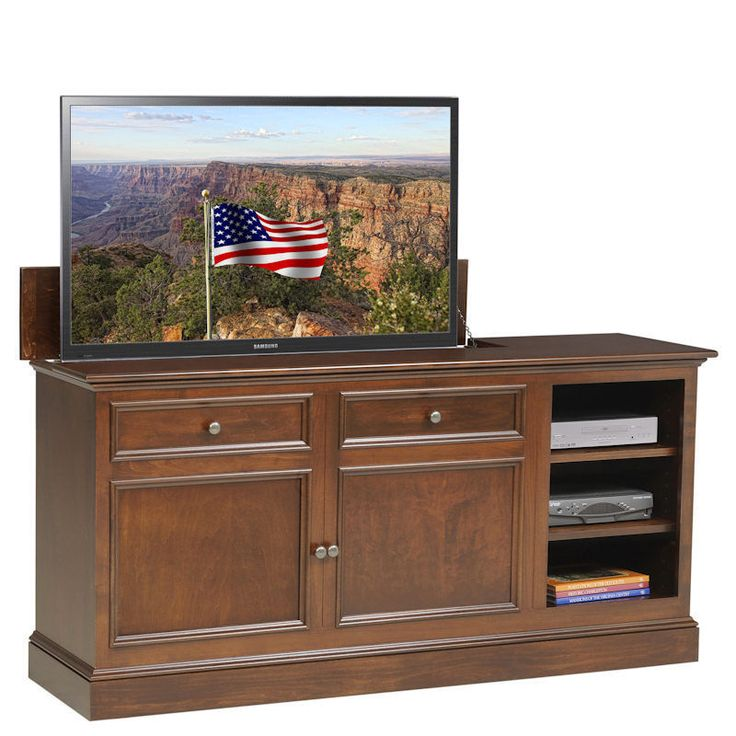 under the window tv lift cabinet by
