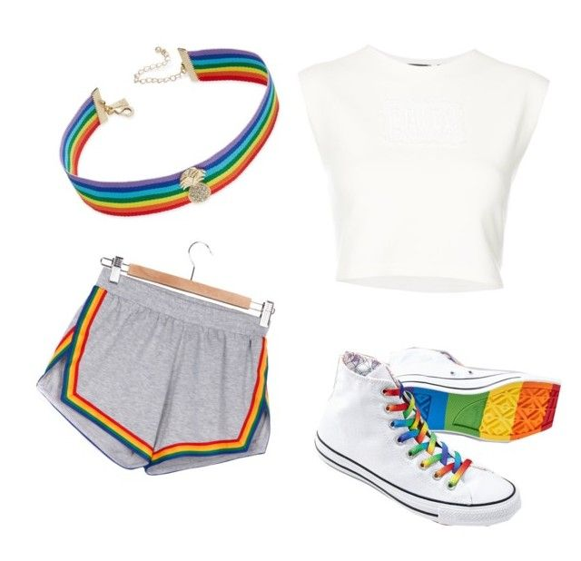 """""""Untitled #48"""" by kaylahvms on Polyvore featuring Converse, Camp Collection, INC International Concepts and Puma"""