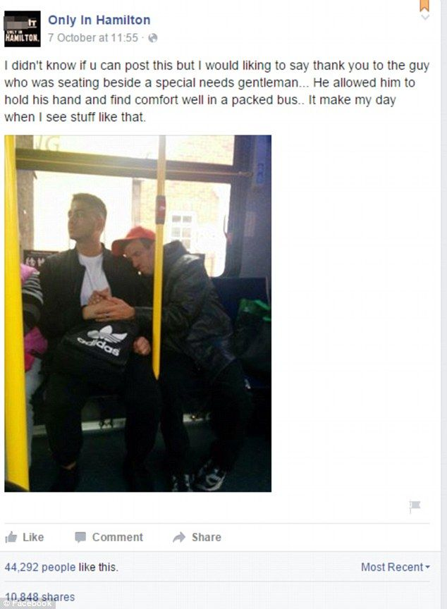 The photo, which was first posted on a Facebook page called Only In Hamilton on Wednesday, has  gone viral