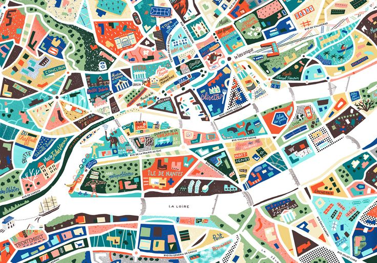Detail from map of Nantes - Antoine Corbineau • Illustration & Design