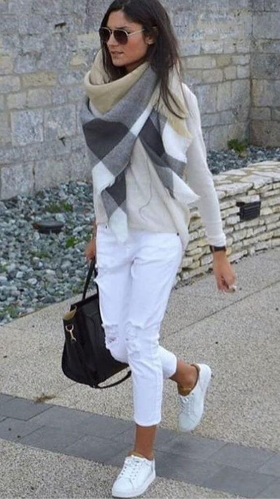 Chic ways to wear white pants in winter, that are not boring | allthestufficarea…