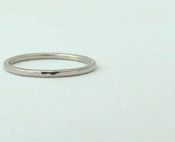 Thin Wedding Band Palladium Wedding Ring Palladium by GoldSmack