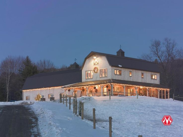 Morton Buildings home/horse barn in New York.